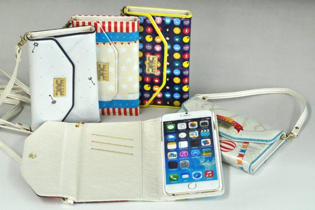 iPhone6/6 Plus ストラップ付きバッグ型レザーケース