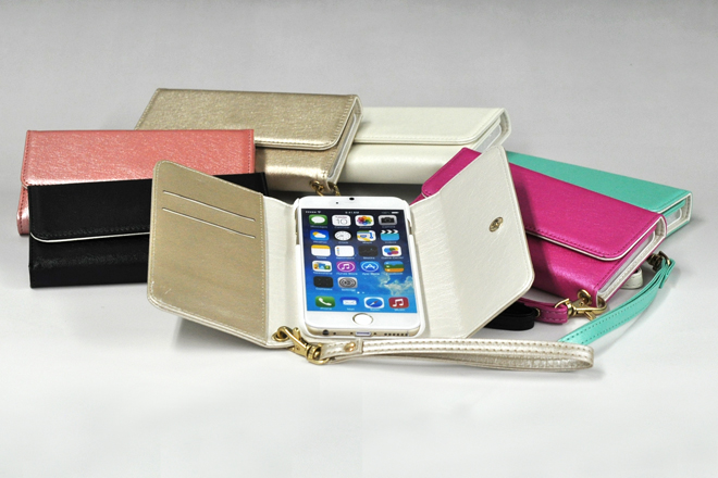 iPhone6/6 Plus ストラップ付き手帳型レザーケース-2