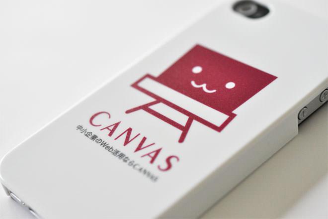 ロゴ iPhone4カバー 有限会社CANVAS様