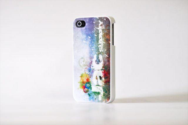 花柄 iPhone4カバー 自社オリジナル