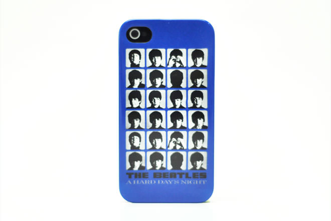 The Beatles A HARD DAY'S NIGHT BLUE iPhone4カバー