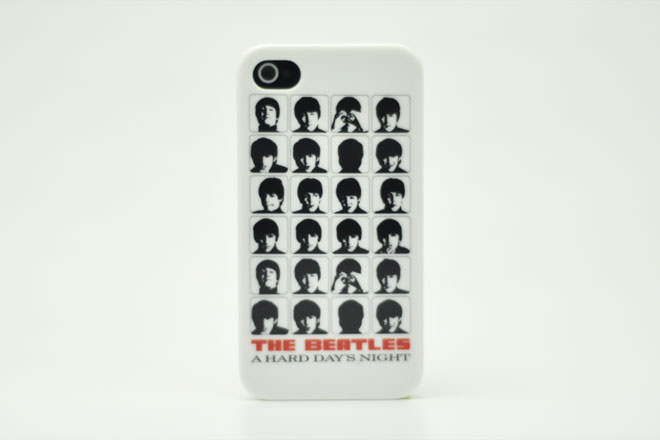 The Beatles A HARD DAY'S NIGHT WHITE iPhone4カバー