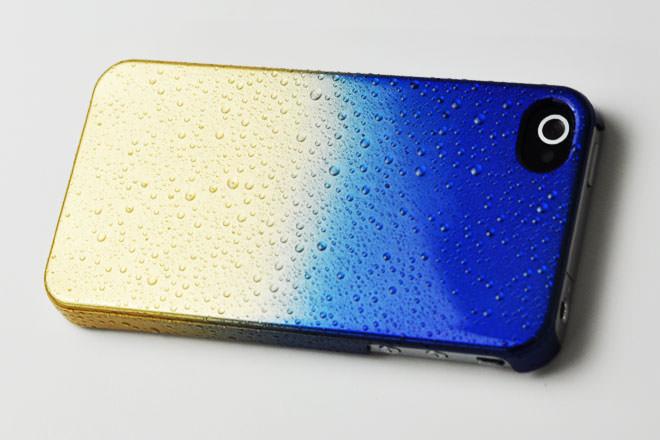 水滴加工 iPhone4カバー
