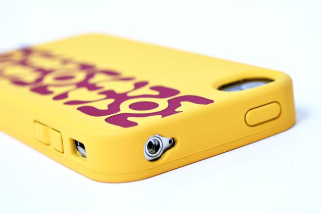 iPhone4シリコンケースのオリジナル印刷:レーザー彫り