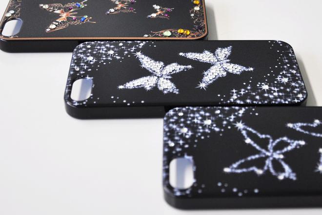 バタフライデコレーション iPhone5カバー
