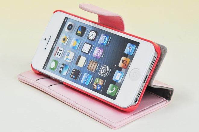 iPhone5/5s/5c 手帳型レザーケース
