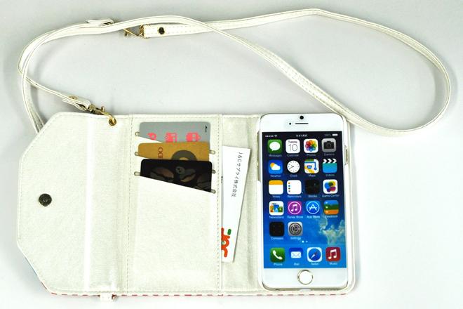 iPhone6/6Plus ストラップ付き手帳型レザーケース