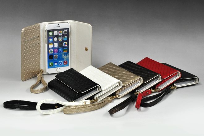 iPhone6/6 Plus ストラップ付き手帳型レザーケース-1