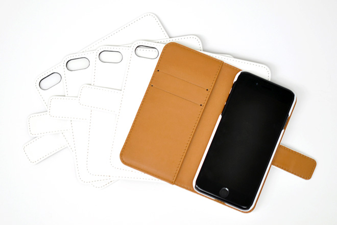 iPhone8/7 手帳型無地ケース