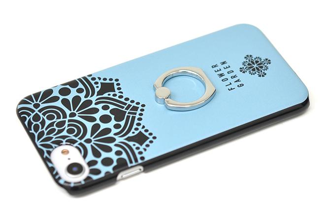 iPhone8/7/6兼用リング付きハードケース