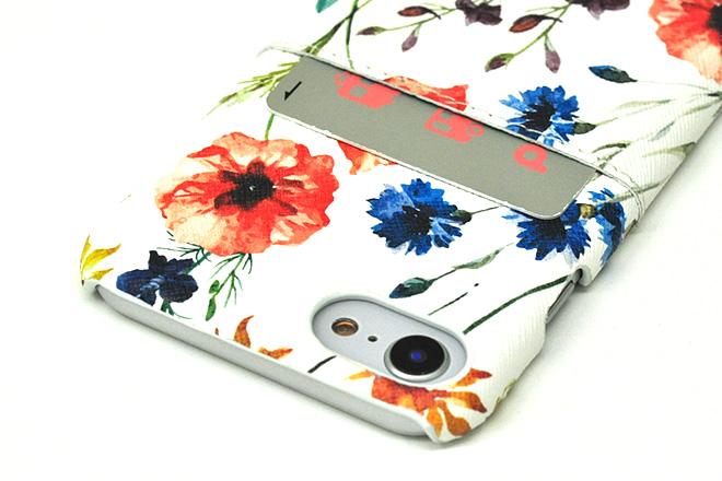 iPhone8/7/6兼用ポケット付きレザーケース インクジェット印刷-6