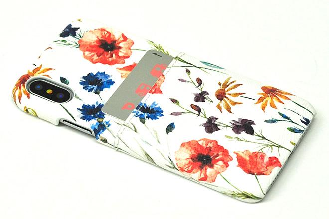 iPhoneXポケット付きレザーケース インクジェット印刷-5