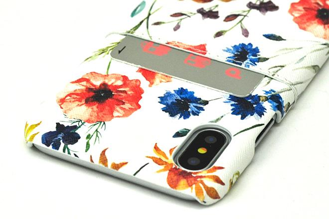 iPhoneXポケット付きレザーケース インクジェット印刷-6
