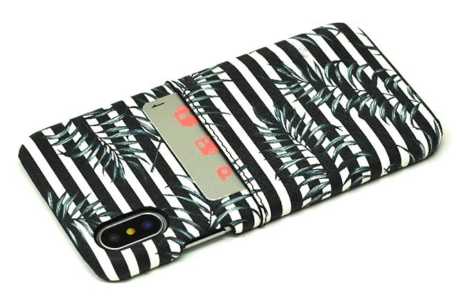 iPhoneXポケット付きレザーケース インクジェット印刷-7