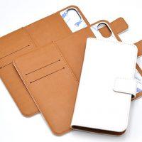 iPhoneX、iPhone8/7/6兼用手帳型無地ケースの取り扱いを開始いたしました