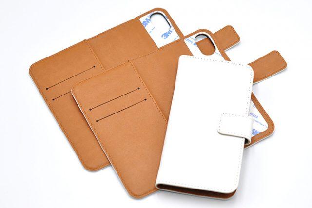iPhone XS/X兼用  手帳型無地ケース