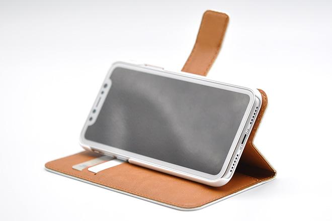 iPhoneX 手帳型無地ケース-8
