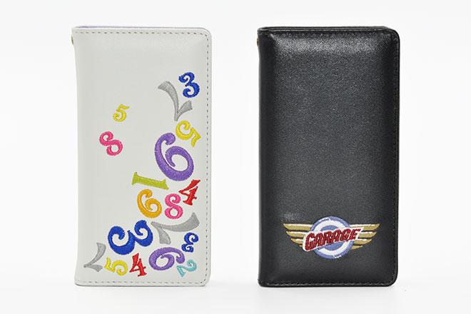 iPhone6/7/8、iPhoneX 手帳型刺繍ケース-2