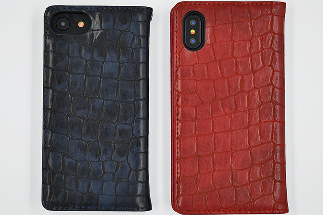 iPhone6/7/8、iPhoneX 手帳型クロコケース-5