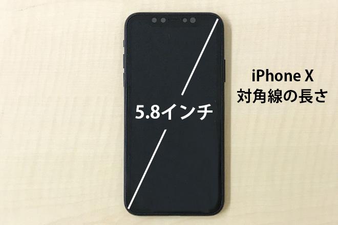 iPhone X対角線の長さ