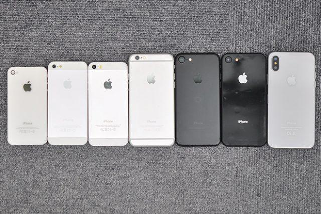 歴代iPhoneのサイズ一覧とケースの汎用性
