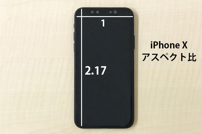 iPhone Xアスペクト比