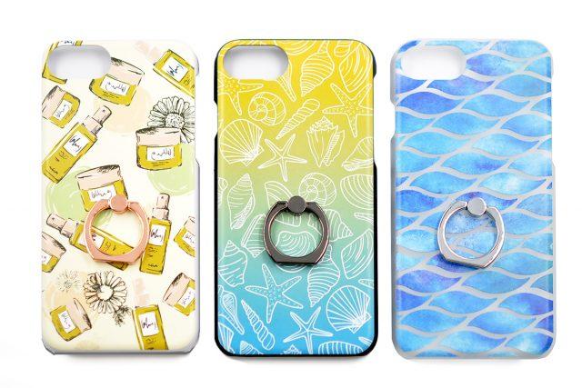 さわやかなカラーが印象的なリング付きiPhone8/7/6兼用ケース