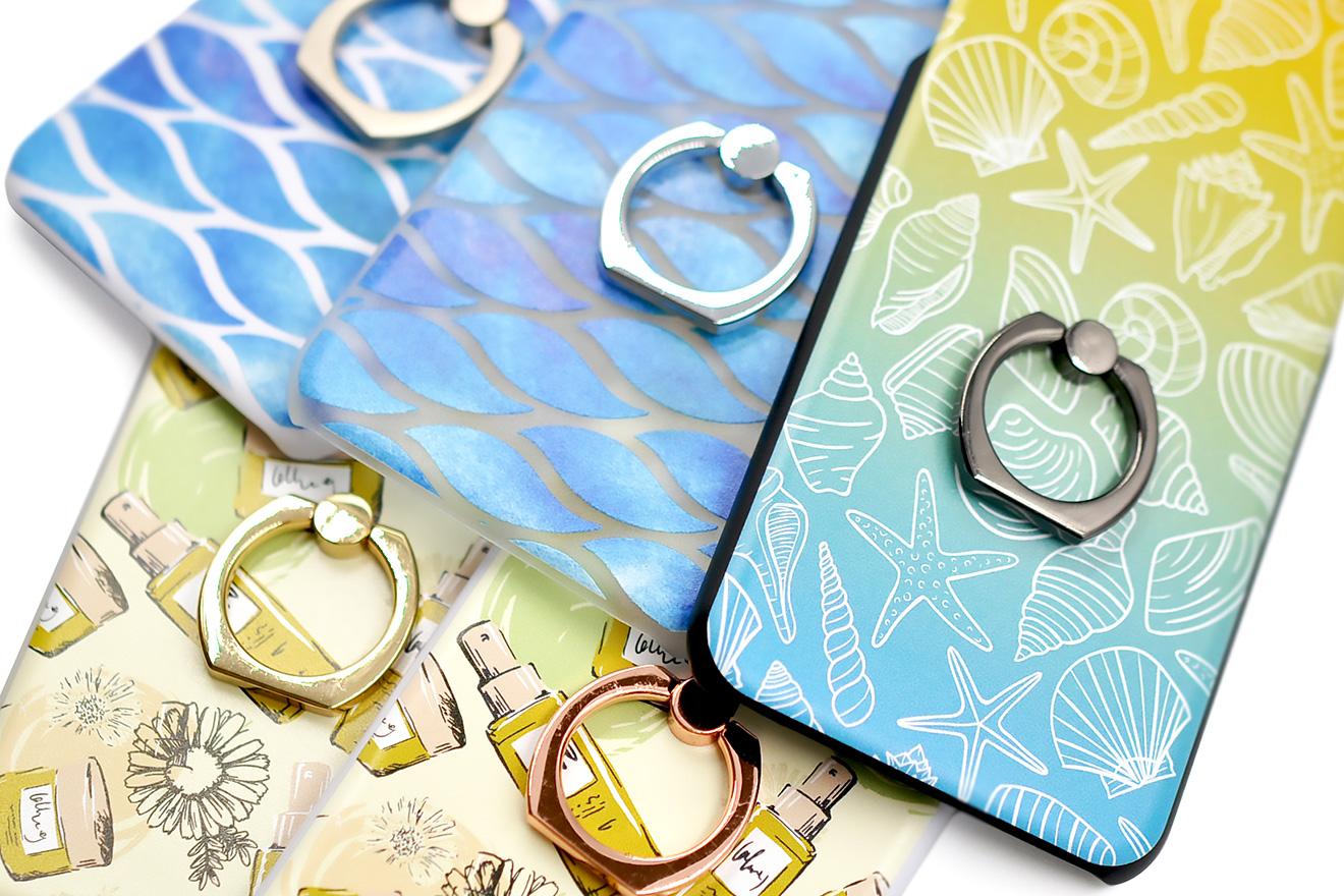 さわやかなカラーが印象的なリング付きiPhone8/7/6兼用ケース-5